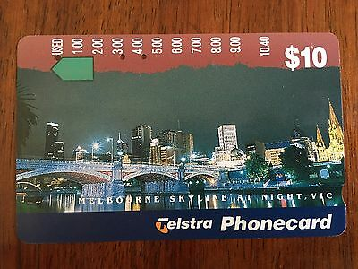 Telstra Phonecard $10 Cityscapes - Melbourne  *USED* Multi-Hole