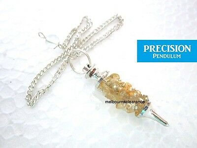 Citrine Chips Chakra Crystal Gemstone Precision Pendulum Healing Dowsing Energy