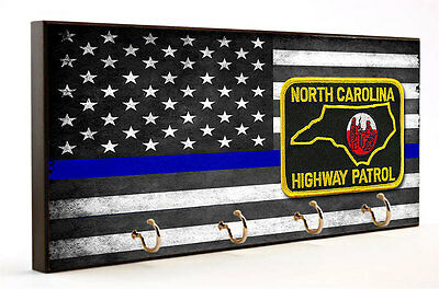 Thin Blue Line North Carolina Highway Patrol Key Hanger