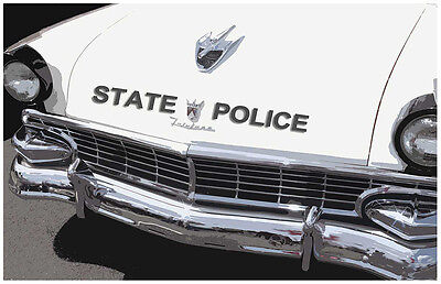Ford Fairlane State Police Patrol Car Two 11x17 Posters