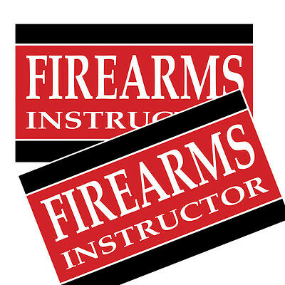 Firearms Instructor Decals Pack Of Two