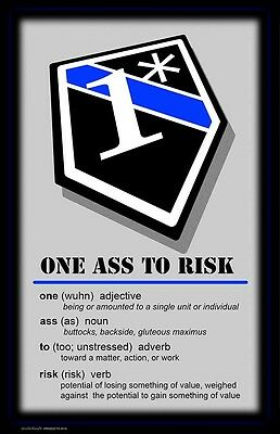 One Ass To Risk 1* Definition Two 11x17 Posters
