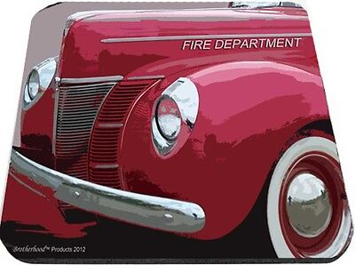 Old Fire Department Chiefs Car Mouse Pad