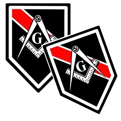 Thin Red Line Firefighter Free Masons Decals Pack Of Two