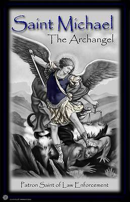 St. Michael Patron Saint of Law Enforcement Two 11x17 Poster