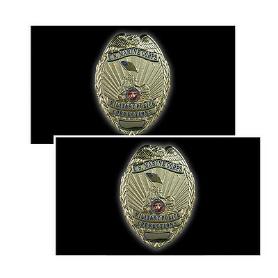 US Marine Corps Military Police Corrections Badge Decals Pack Of Two