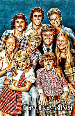 1970's TV Show The Brady Bunch Cast Two 11x17 Posters