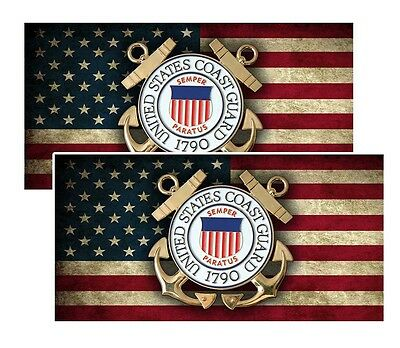 United States Coast Guard Emblem Decals Pack Of Two