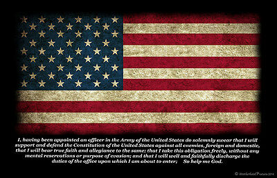 American Flag United States Army Officer Oath Two 11x17 Posters