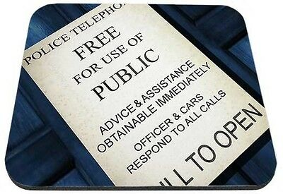 Dr. Who Tardis Door Sign Mouse Pad