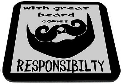With Great Beard Comes Responsibilty Mouse Pad