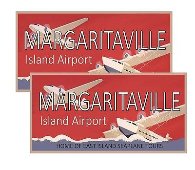Margaritaville Island Airport Decals Pack Of Two