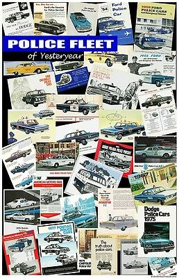 Police Fleet of Yesteryear 24x36 Inch Poster