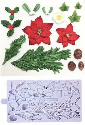 Karen Davies Christmas Winter Wreath Sugarcraft Mould     FAST DESPATCH