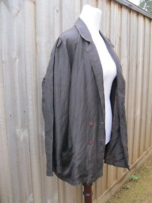 GRUNGE  GREY/PURPLE SILK DOLMAN BLAZER JACKET COAT OS summer 8 10 12