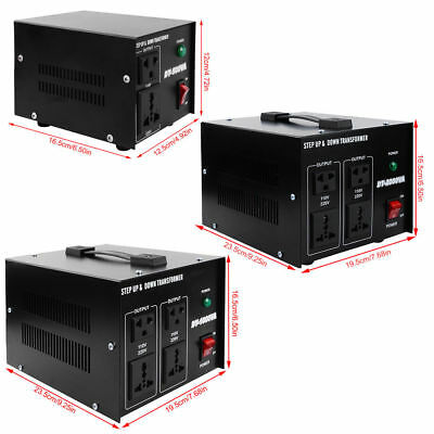 Step UP & Down Converter transformateur de tension 240V- 110V AC Voltage 500W