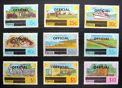NEVIS 1981 Official OPT's 9 Values to $10 As Shown U/M FP7675