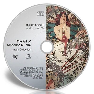 THE ART OF ALPHONSE MUCHA - Royalty-Free Images, Pictures Collection CD-ROM