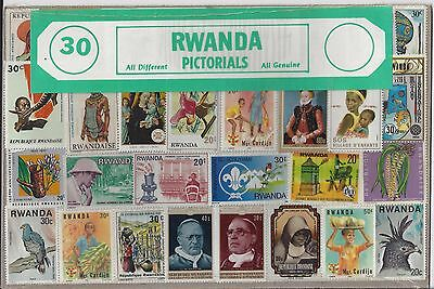 Packet of 30 Rwanda Stamps All Different