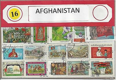 Packet of 30 Afghanistan Stamps All Different