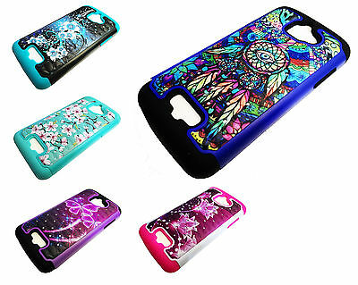 Sparkle Hybrid Phone Cover Case For Coolpad Catalyst 3622A