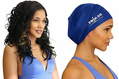 #1 Top Rated Large Swim Cap for Long, Thick, or Curly Hair by Swim On - Water...