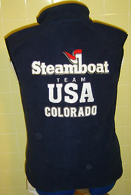 "Steamboat Springs Colorado USA Team Skiing Embroidered Fleece Vest New 34"" New"