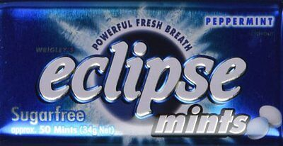 Eclipse Sugarfree Mints Peppermints 1.2 Ounce Tins (Pack of 8)