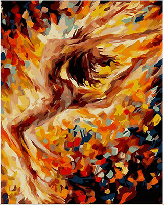 "DIY Paint By Number 16""*20"" Kit Abstract Dancer On Canvas With Nice Box"