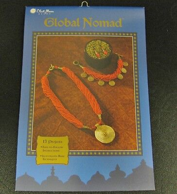 Blue Moon Beads Global Nomad, Beading Instruction Book with 13 Projects