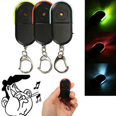 LED Whistle Car Key Finder Seeker Locator Find Lost Keys Keyring Cool Gadgets