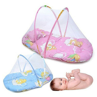 Foldable Portable Infant Baby Mosquito Net Crib Bed Tent With Pillow Ideal