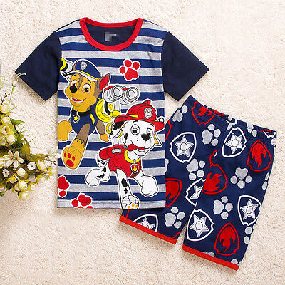 Paw Patrol Boys cotton pjs pyjamas spring autumn sleepwear size 1-6 in AU xmas