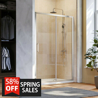 Walk In Sliding Door Shower Enclosure Glass Screen Cubicle 6mm/8mm Safety Glass