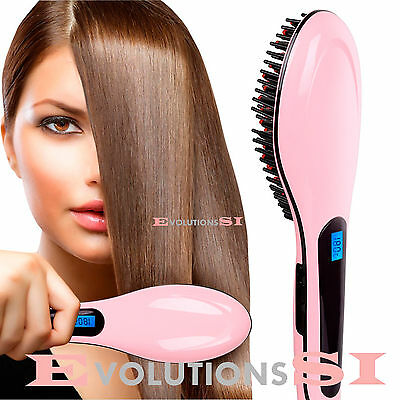Cepillo Alisador De Pelo Electrico Con Temperatura Variable Alisador Hair Brush
