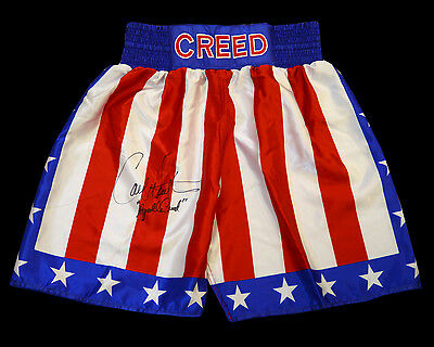 Carl Weathers ' Rocky' Signed Replica Custom Made Boxing Trunks: Apollo Creed: B