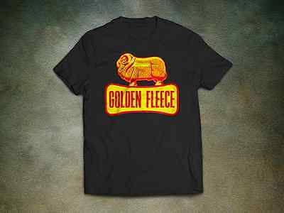 Golden Fleece T-Shirt - Motor Oil Workshop Car Vinyl Sticker Vintage Retro Cool