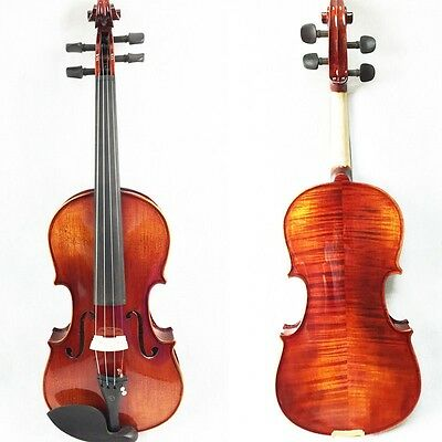 Handmade Concert Full Size Violin 4/4 Violin / Fiddle Case Bow High Gloss Finish