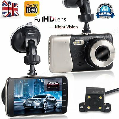 1080P Dual Lens Car Vehicle DVR Video Recorder Camera Rear Dash Cam Night Vision