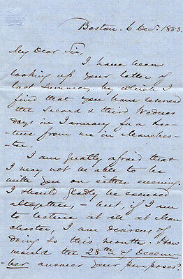 House Speaker ROBERT CHARLES WINTHROP - Autograph Ltr Signed