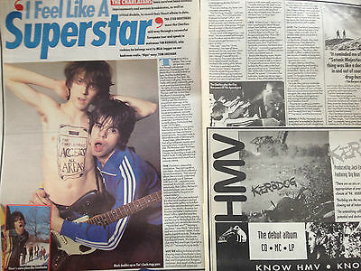 """CHARLATANS # UP TO OUR HIPS # 1994 RELEASE ARTICLE # 16""""x 22"""""""