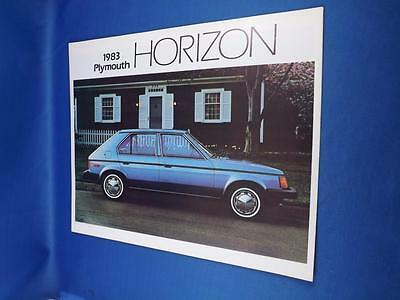 1983 Plymouth Horizon Car Sales Brochure Options Value Features Hatch Back