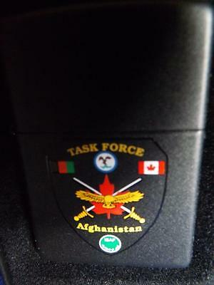 Canadian Military Task Force Afghanistan Zippo Lighter Canada Troops