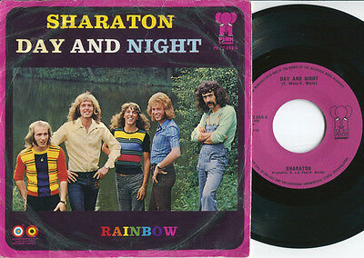 SHARATON - Day and Night / Rainbow 45 Dutch 72 GLAM ROCK PSYCHEDELIC POWERPOP PS