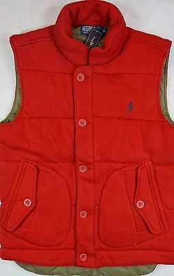 Polo Ralph Lauren Vest Quilted Lined Puffer M Medium Red NWT $165