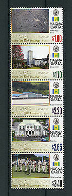 St Vincent & Grenadines 2016 MNH Magna Carta 800th Ann 5v Strip Buildings Stamps