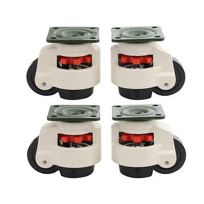55056 4PCS Set Swivel Heavy Duty Machine Levelling Castors Wheels 40 to 100MM