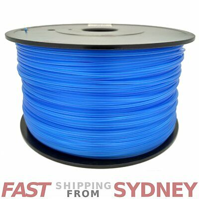 3D Printer Filament ABS 1.75mm Transparent Blue 1kg Roll, FAST shipping SYDNEY