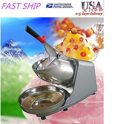 300w 132lbs Electric Ice Shaver Crusher Machine Snow Cone Maker Shaved Icee UIO