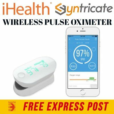iHealth Wireless Pulse Oximeter Measure blood oxygen saturation- iPhone/Android